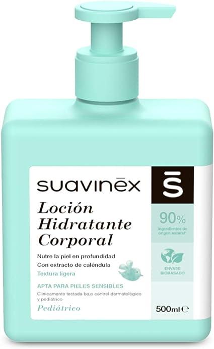Suavinex 303792 – Loción Hidratante Corporal para Bebés, Apta para Pieles Sensibles, Textura Ligera y Fácil Absorción, 90% Ingredientes de Origen Natural, 500 ml: Amazon.es: Belleza