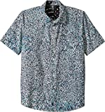 Volcom Big Boys' Drag Dot Short Sleeve All Over Print Button up Shirt, Misty Blue, S