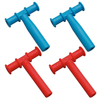 Chewy Tubes Teether, 4 Pack - Blue/Red: Toys & Games