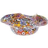 GlassOfVenice Murano Glass Millefiori Decorative Bowl - Multicolor