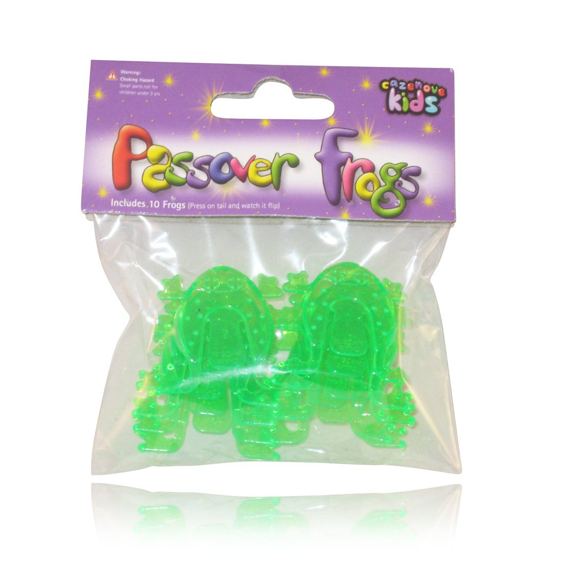 for Children to Reenact the Plagues And the Kids At Heart Passover Flip Frogs Great for Your Pesach Seder Cazenove SG/_B0181GDHSG/_US 10 Pack