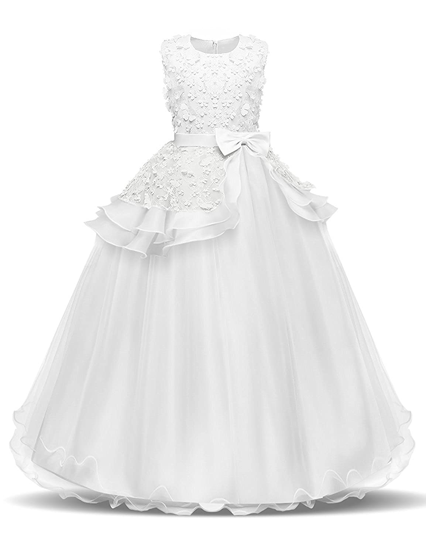 FKKFYY 2-14 Years Girl Wedding Party Graduation Dresses FKKFYY38D1