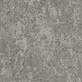 Wallpaper Steel Gray Faux Finish Plaster Look