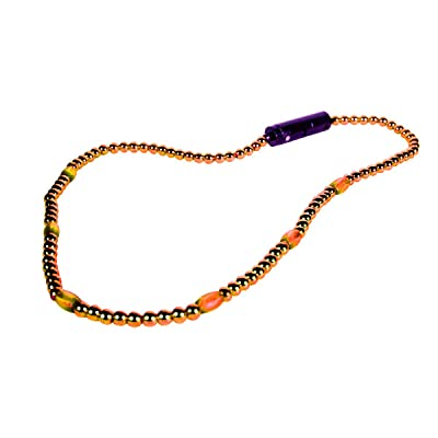 blinkee LED Necklace with Orange Beads by: Toys & Games