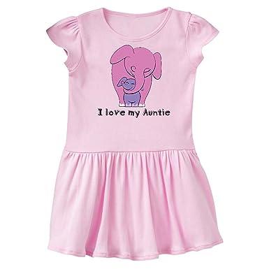 8854b85853a8 Amazon.com  inktastic - I Love My Auntie Elephant Pink Purple Infant Dress   Clothing