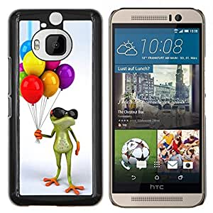 Stuss Case / Funda Carcasa protectora - Cumpleaños de los niños de la rana blanca - HTC One M9+ M9 Plus