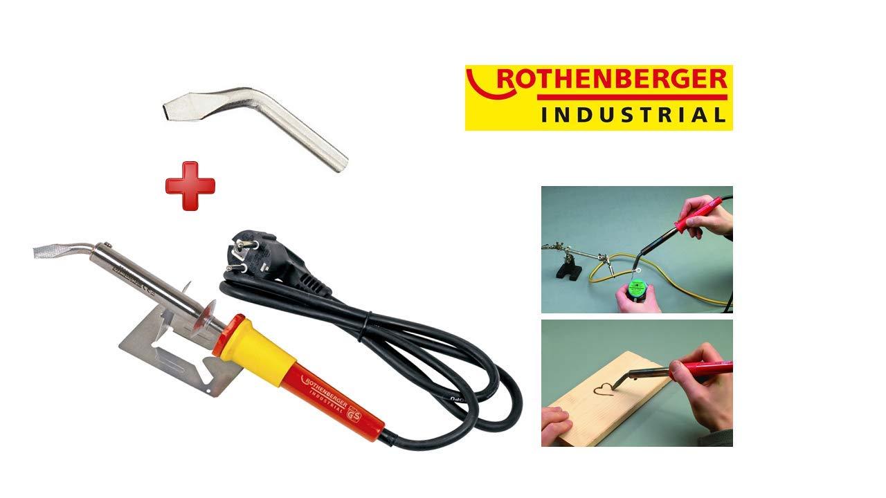 ROTHENBERGER Industrial Lötkolben 100 W 35959, kurze Anheizzeit , inkl. Ersatzspitze & Geräteauflage: Amazon.es: Industria, empresas y ciencia