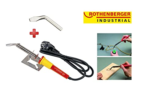 ROTHENBERGER Industrial Lötkolben 100 W 35959, kurze Anheizzeit , inkl. Ersatzspitze & Geräteauflage