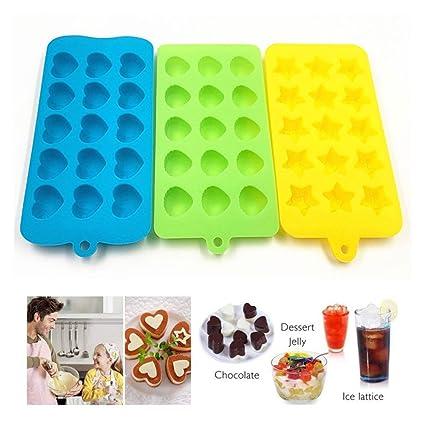Kobwa Moldes de silicona para chocolate, 3 paquetes antiadherentes, sin BPA, flexibles,