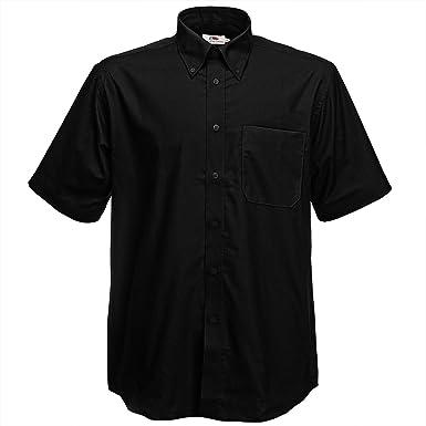 Fruit Of The Loom Oxford Short Sleeve Shirt: Amazon.co.uk: Clothing