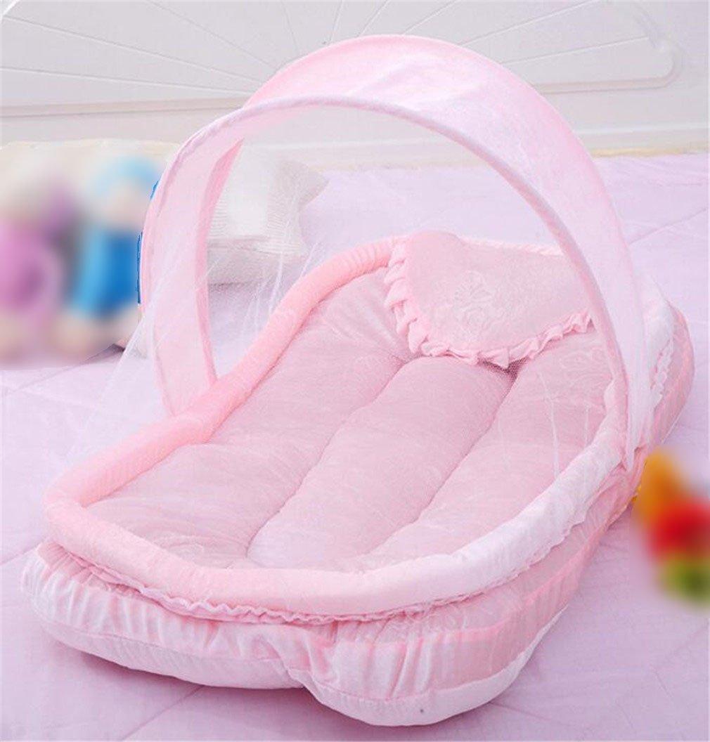 nuo-z Mosquito Net Baby Travel Bedポータブルテント折りたたみ幼児ベビーベッド0 – 2歳のテント、ピンク   B07F8QQLWZ