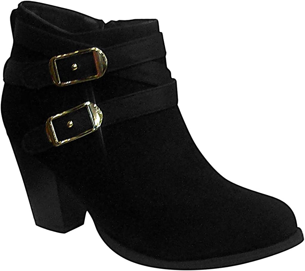Platinum Collection Womens 61129 Mid Heel Ankle Suede Booties