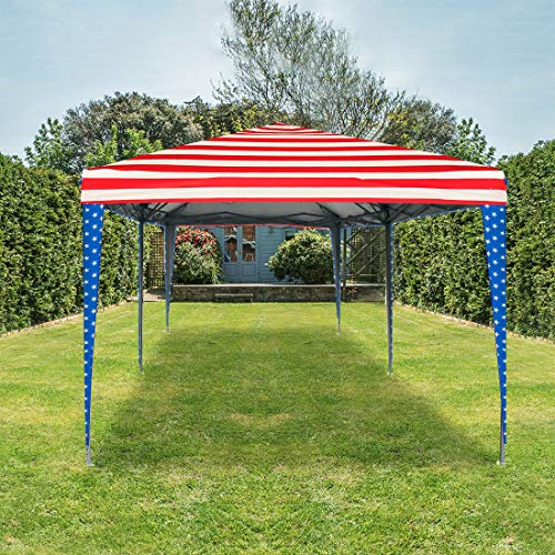 (Quictent Privacy 10x20 EZ Pop Up Canopy Tent Party Tent Outdoor Event Gazebo Waterproof with Roller Bag- 4 Colors (American Flag) )