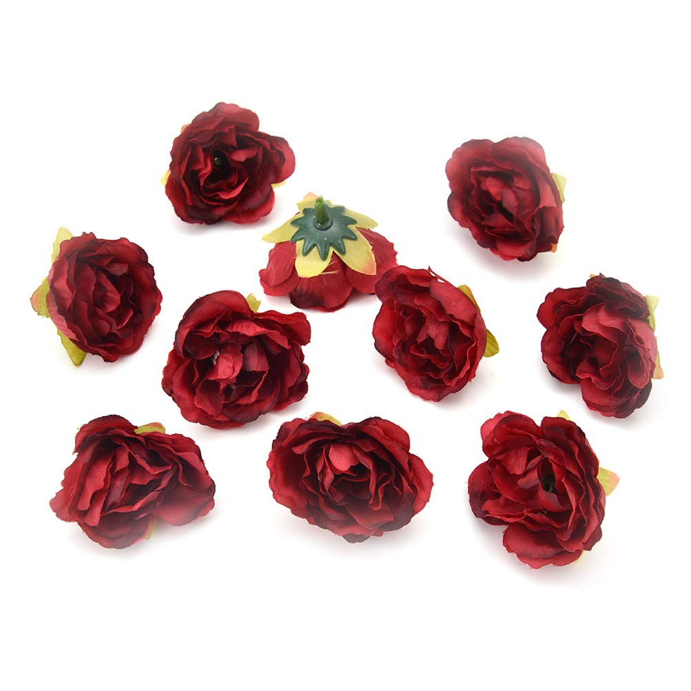 Fake-flower-heads-in-bulk-wholesale-for-Crafts-Cherry-Blossoms-Peony-Silk-Artificial-Flower-Wedding-Party-Home-Room-Decoration-Marriage-Shoe-Hats-Accessories-Handmade-Craft-30pcs-4cm-Burgundy