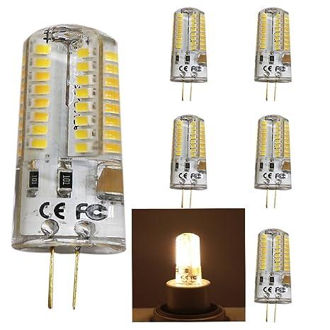 5pc 5W G4 LED Lámpara perlas, Repuesto para bombilla halógena de 50W, 320lm,