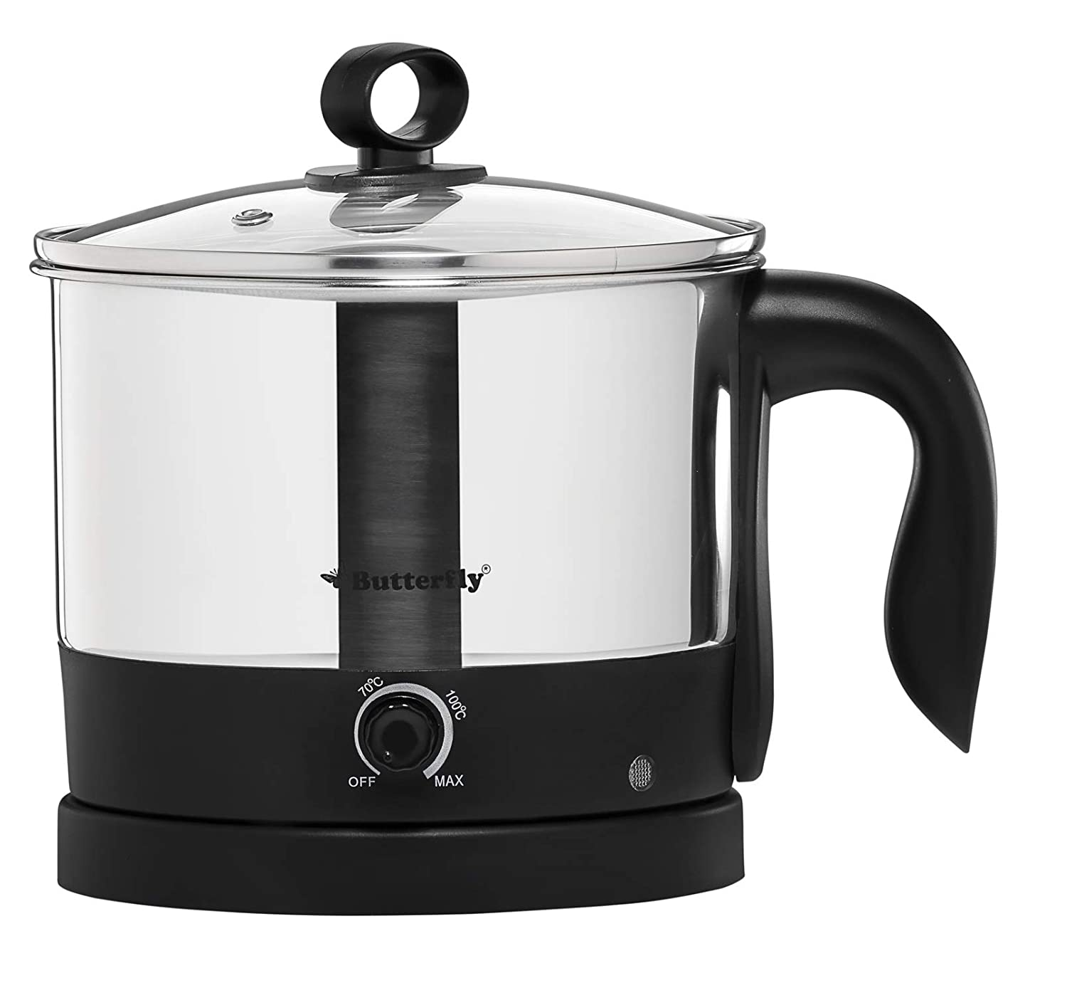Butterfly Wave 1.2-Litre Multi Cooker (Silver)