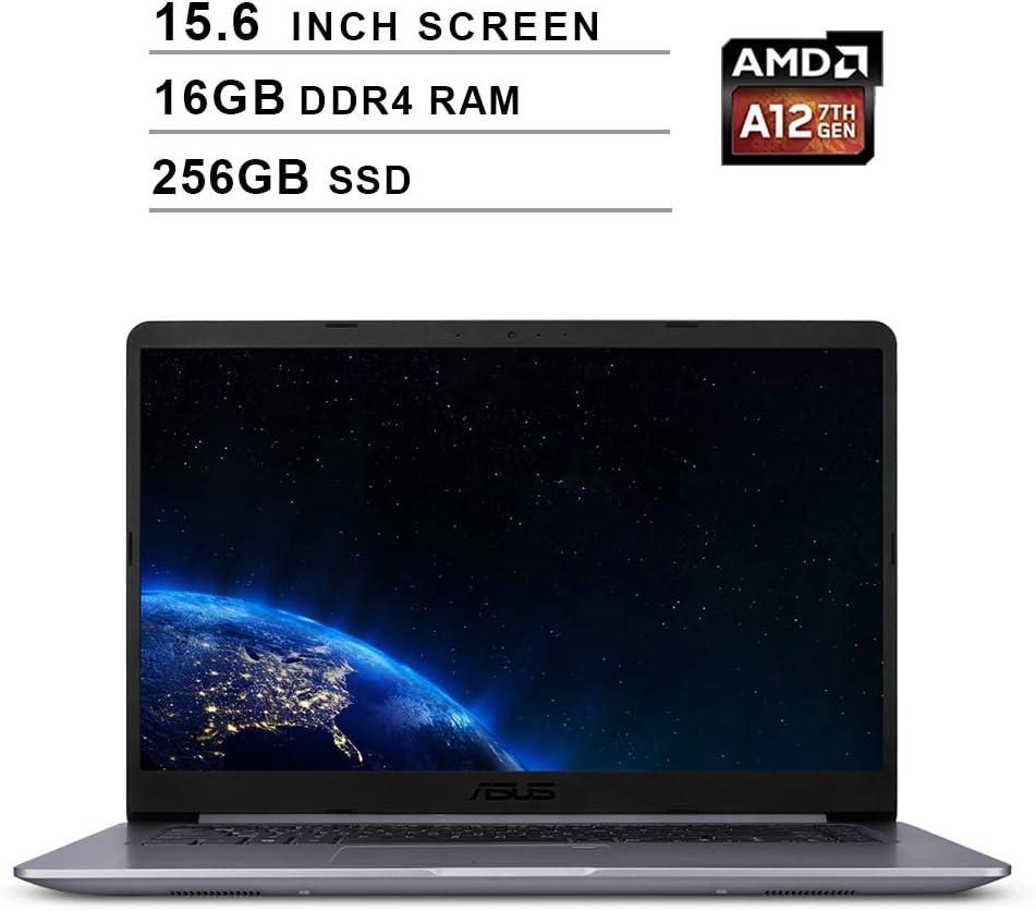 Asus 2019 VivoBook F510QA 15.6 Inch FHD Laptop Computer (AMD Quad Core A12-9720P up to 3.6 GHz, 16GB RAM, 256GB SSD, AMD Radeon R7, Bluetooth, WiFi, HDMI, Windows 10)