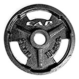 Cheap CAP Barbell Machined Olympic Grip Plate, Black, 25 lb