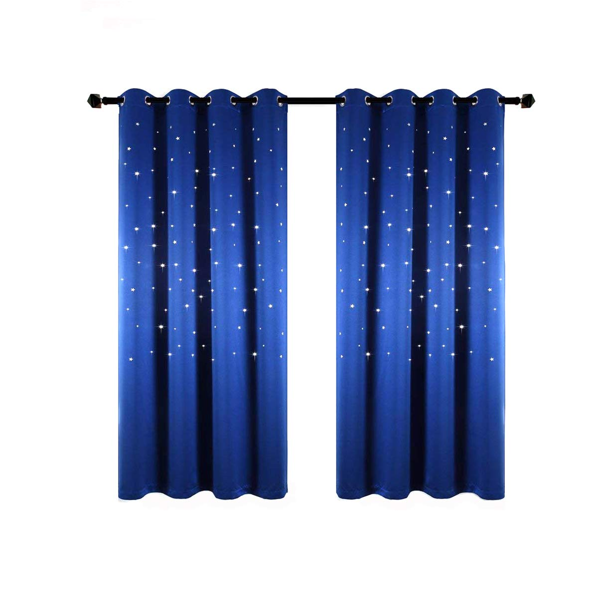 Anjee Romantic Starry Sky Space Curtains for Kids Room