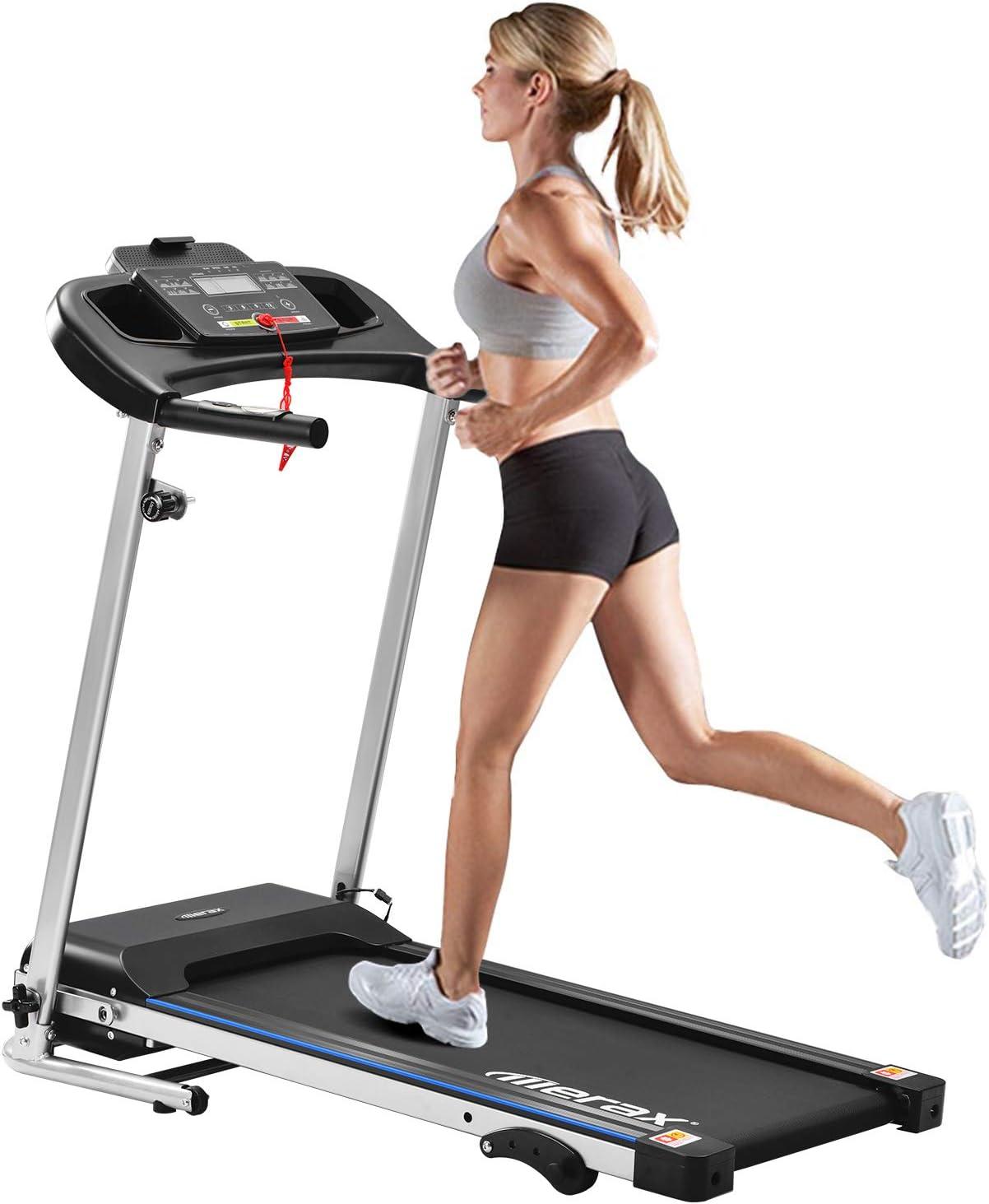 und Jogging-Fitnessger/ät 12 km//h f/ür Heim-Fitnessger/äte mit 12 Programmen,elektrisch klappbar Merax Laufband Motorisiertes Laufband Elektrisches Klapplaufband 500W Motorisiertes Lauf