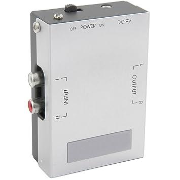 Pre Amplificador para Turntables RCA Fono Izquierda y Derecho Entrada y Output