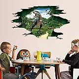 Clearance!! ZOMUSA 3D Dinosaur Floor Removable Wall Sticker Mural Decals Vinyl Art Living Room Decor (Multicolor)