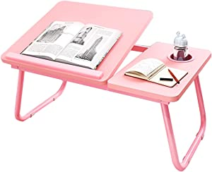 Lap Desk-Laptop Table for Bed Notebook Holder Stand,Portable Computer Ergonomic Adjustable Foldable Laptop Tray for Homework Study Reading Eating Food Tray Table