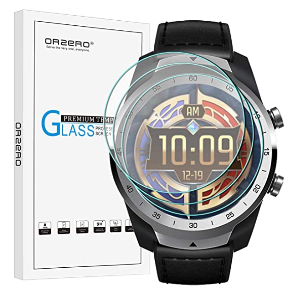2ccef0933  3 Pack  Orzero for Ticwatch Pro Smartwatch Tempered Glass Screen  Protector