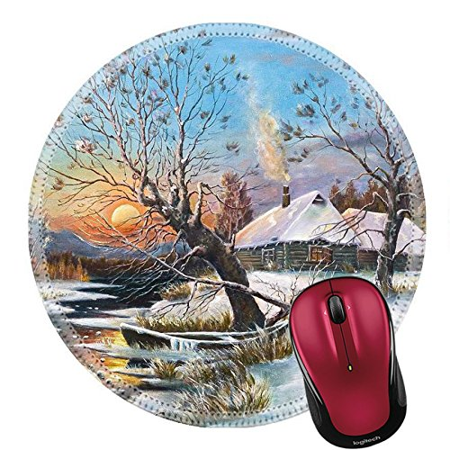 Liili Round Mouse Pad Natural Rubber Mousepad Copy of a picture of Russian artist Klevera Photo - Copy Hut