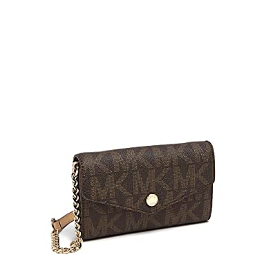 1e7a8d6b577ab4 MICHAEL Michael Kors MK Signature Saffiano Wallet on a Chain: Michael Kors:  Amazon.co.uk: Clothing
