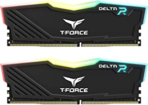 TEAMGROUP T-Force Delta RGB DDR4 16GB (2x8GB) 3200MHz (PC4-25600) CL16 Desktop Memory Module ram TF3D416G3200HC16CDC01 - Black