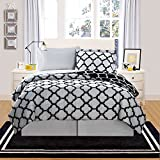 Black and White Comforter Set VCNY Galaxy 8-Piece Comforter Set, Queen, Black/White