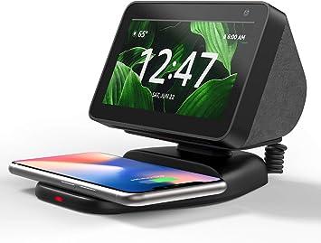 Verstellbare Magnetischer Echo Show 5 Zubeh/ör Handy Qi ladestation Echo Show 5 St/änder mit Wireless Charger