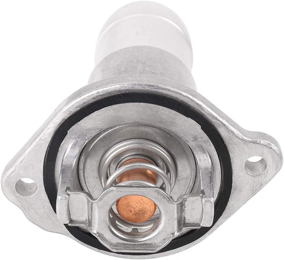 X AUTOHAUX Car Auto Thermostat Housing 8126223160 12622316 for 2004-2012 Chevrolet Colorado