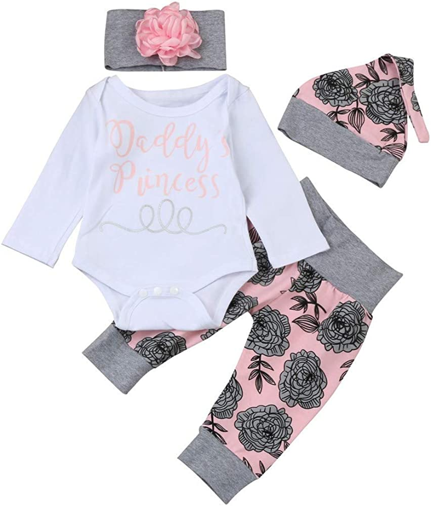 Bestow Baby Girl Toddler Letter Robes Flower Pants Set Ropa para ...