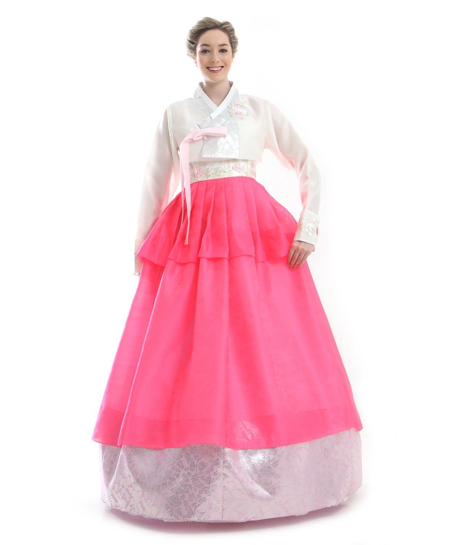 Handgemachter 100% Seide Kleid Hanbok Korea Lang Tracht Schwarz Design Umbund Party Dress Kleid Elegant Fashion Mode Neu