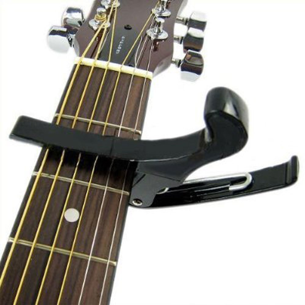 TM niceEshop Unique Blanc main Capodastre pour guitare Changement rapide