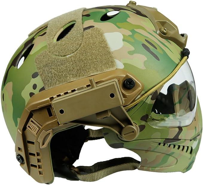 ohne Helm WTZWY Tactical Camouflage Mich 2000 Schnelle Helmabdeckung mit Cat Eye Helmband Outdoor Sports Airsoft Helmzubeh/ör