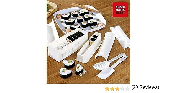 Appetitissime Matik Moldes para Sushi, Blanco, 21x15.1x8.4 cm, 8 Unidades: Amazon.es: Hogar