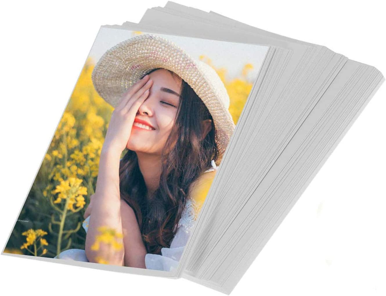 Liwute 4x6 Inches Glossy Photo Paper Both Sides 200gsm For Laser Printer, Laser Printing Paper, 100sheets