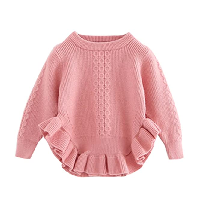 55e00031aed6 Amazon.com  Toddler Baby Girls Pullover Sweaters Infant Knitted ...