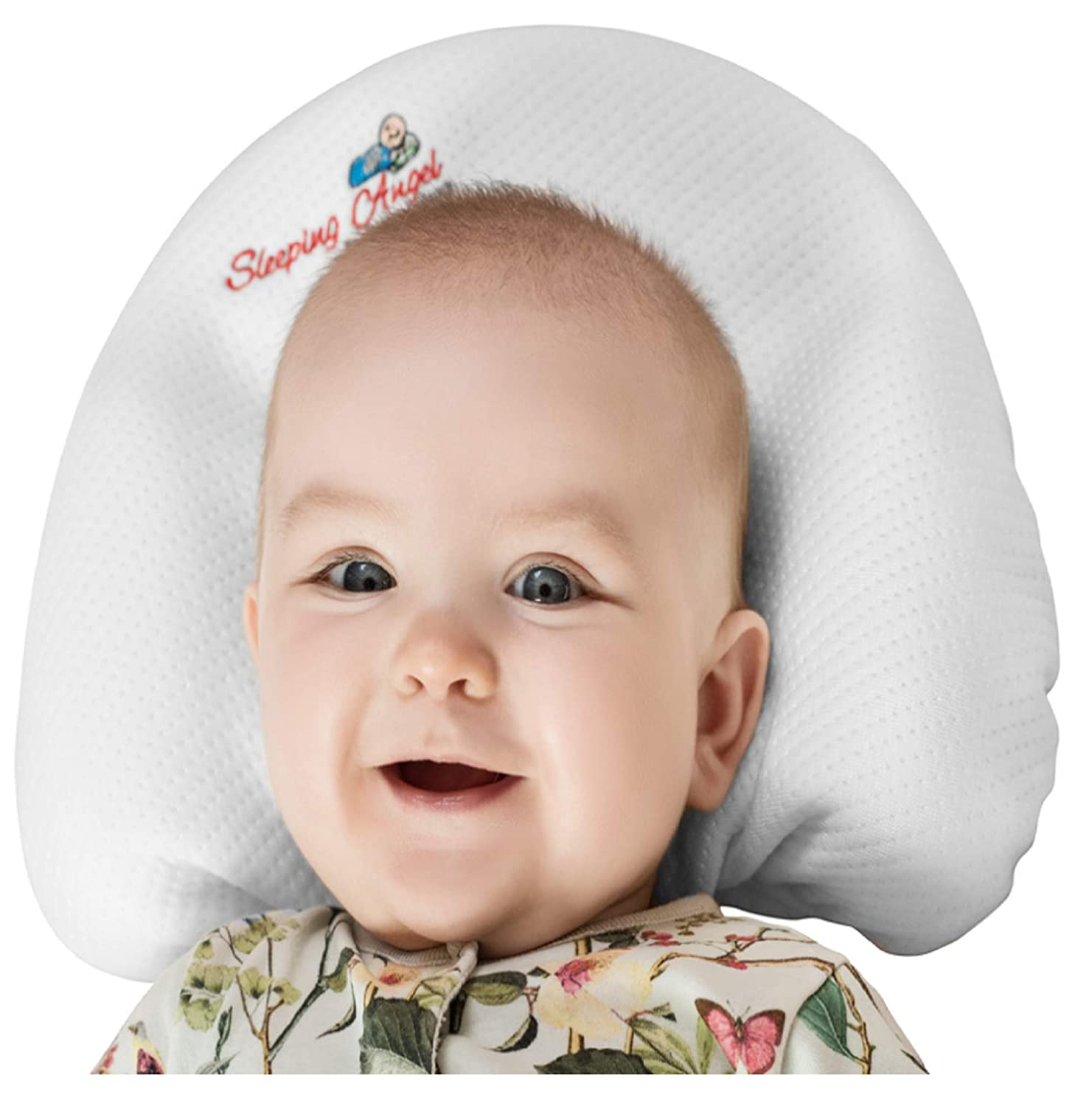 3d1824660e86 Amazon.com: Baby Head Shaping Pillow with 2 Bamboo Pillowcases for Newborns  prevent flat head syndrome (Plagiocephaly),Rolling Over.