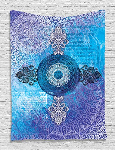 Asian tapestry mandala decor by ambesonne indian batik for Space themed tapestry