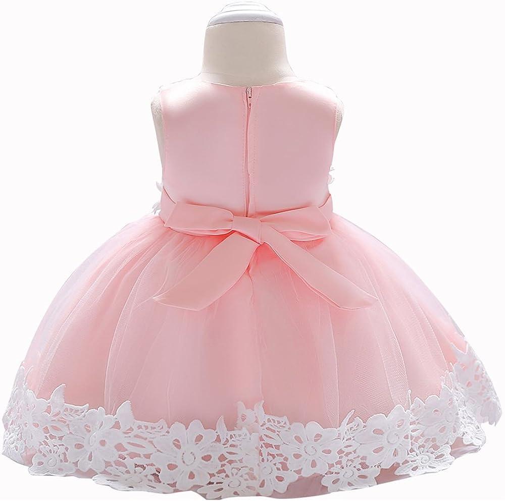LZH Baby Girl Dress Formal Christening Baptism Princess Wedding Birthday Dress
