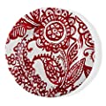 tag - Veranda Melamine Salad Plate, Durable, BPA-Free and Great for Outdoor or Casual Meals, Paisley Red (Set Of 4)