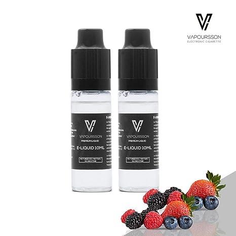 VAPOURSSON 2 X 10ml E Líquido| 2 Paquetes Frutos Rojos| 2 botellas - Nueva
