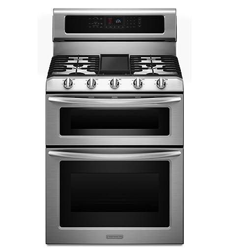 Surprising Kitchenaid Architect Series Ii Kdrs505Xss 30 Freestanding Dual Fuel Double Oven Range Self Clean Download Free Architecture Designs Xoliawazosbritishbridgeorg