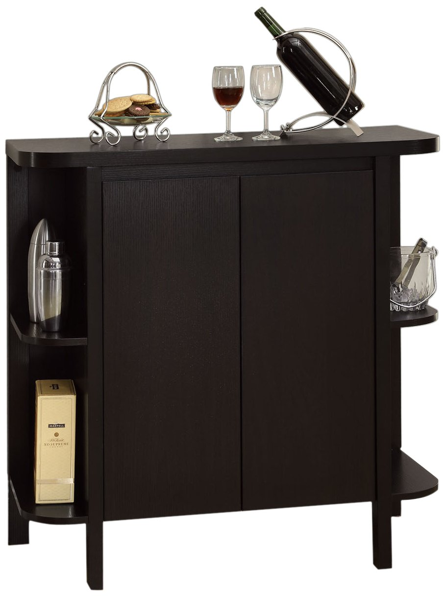 Monarch Specialties Cappuccino Finish Bar Cabinet 2545