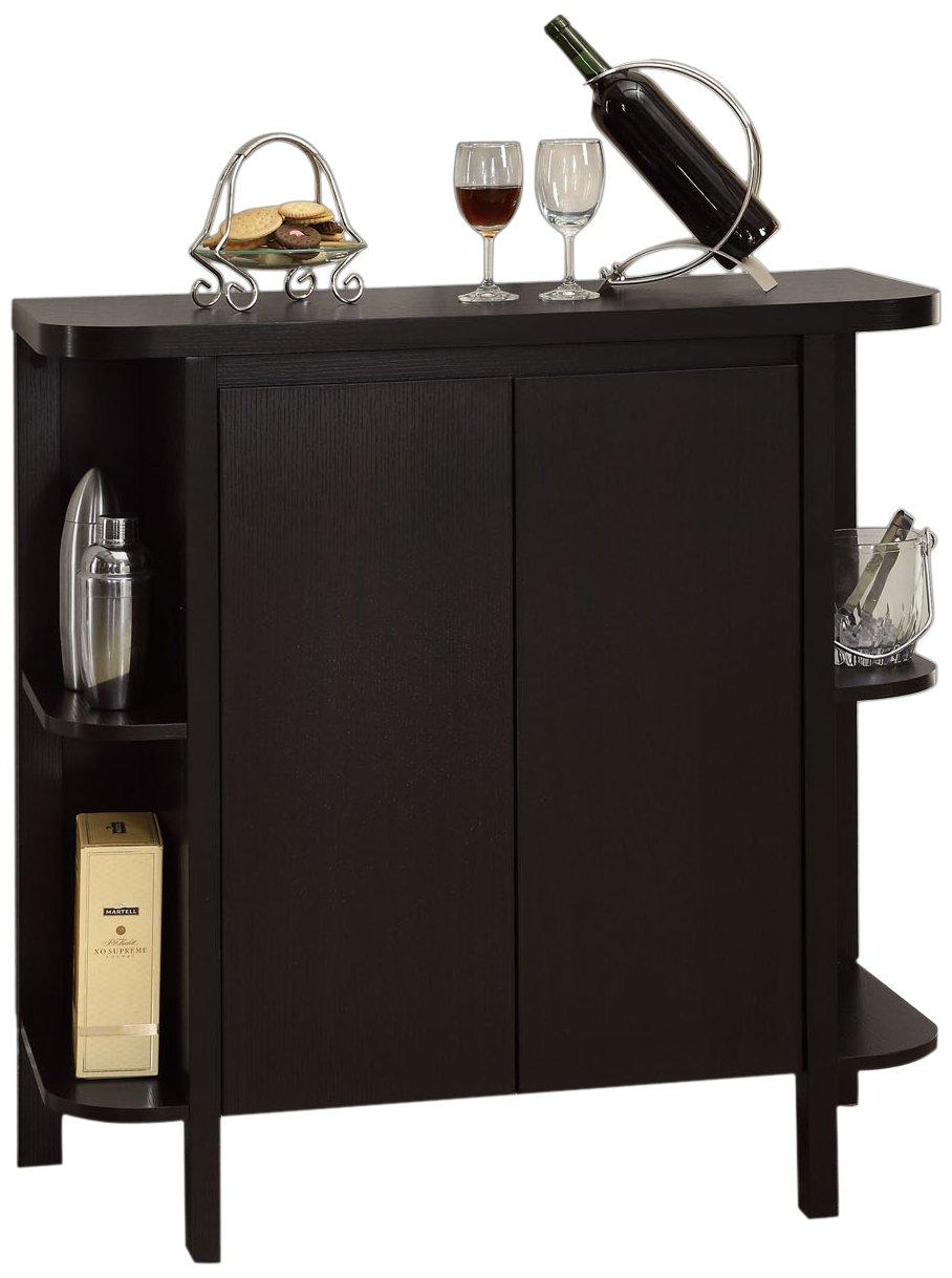 Monarch Specialties Cappuccino Finish Bar Cabinet by Monarch Specialties