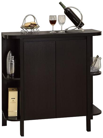 Amazon.com: Monarch Specialties Cappuccino Finish Bar Cabinet ...